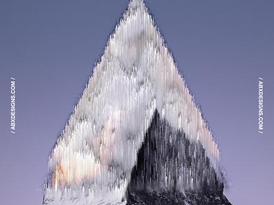 PIXELDISTORT STORIES 004 glitch mountain artsy photoshop design symbol art brand texture color