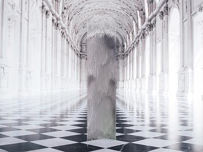 Roman Hallway Glitch architecture roman photoshop design art texture color