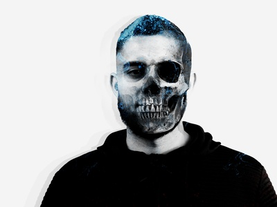 Skull Edit self portrait designer photoshop design logo brand art texture skull art skull