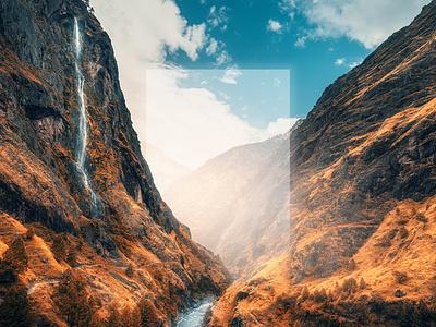 Fall Reflect 2 designer surrealism glow nature photoshop design texture color art