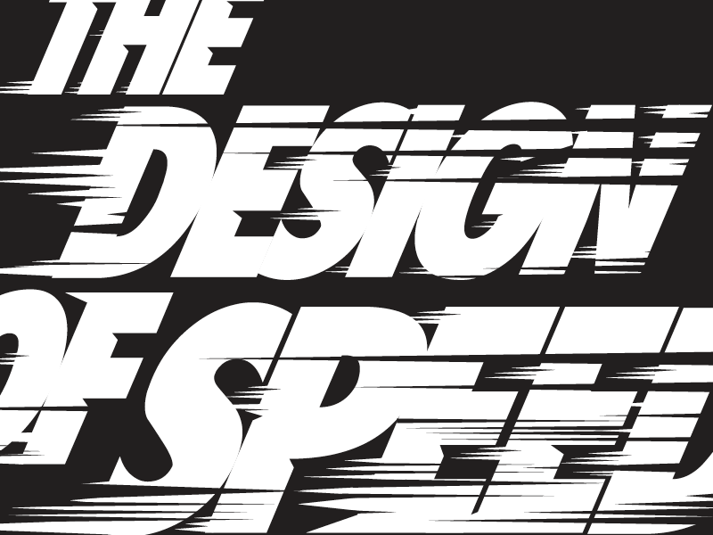THE DESIGN OF SPEED symbol typography texture color brand illustrator monogram logo