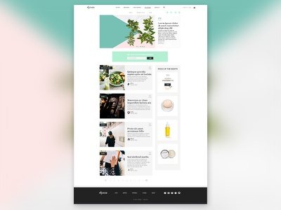 Lifestyle Website_homepage blog homepage women lifestyle web design