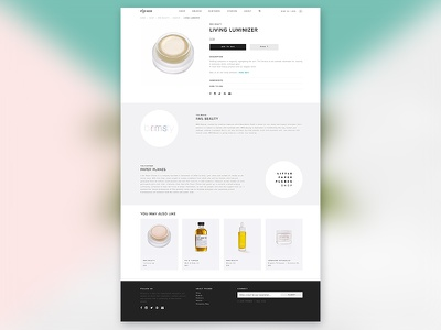 Lifestyle Website_product page e-commerce product homepage women lifestyle web design