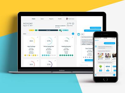 Time Management Platform web app chatbot data visualization visual design app design responsive platform