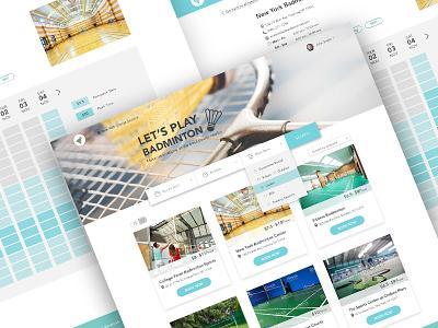 Badminton Court Booking courts sports web chart booking platform web design