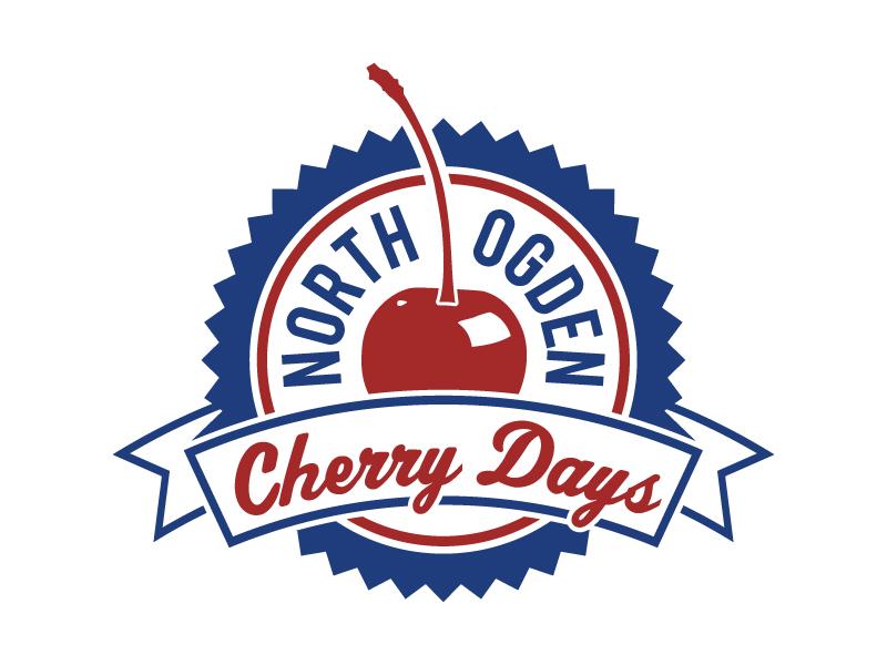 Cherry Days Logo 2015 Dribble seal badge event cherry logo logo design