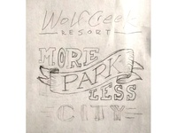 Wolf Creek Resort - Sticker sketch 3