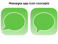 Messages app icon concepts