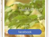 FeedMe Login Page