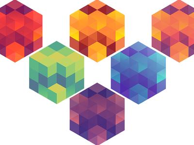Compartment : Illustrator Shapes 2 cubes geometry illustrator photoshop