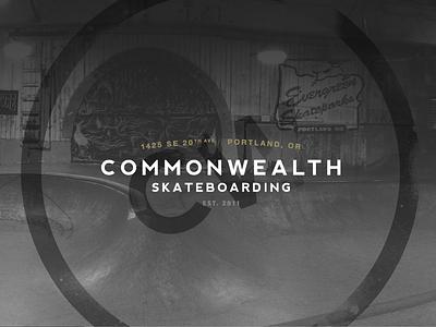 Commonwealth Branding branding helvetica neue nevis skateboarding