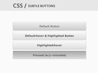 CSS / Subtle Buttons