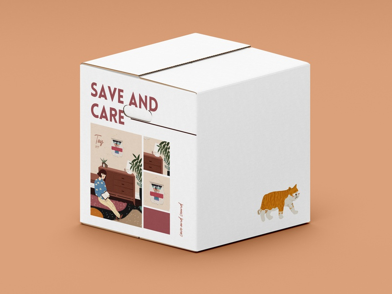 box illustration flat branding