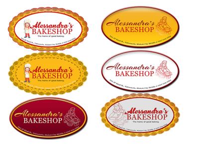 Case Studies on Alessandras Bakeshop Logo casestudies logotype
