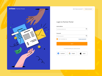airSlate Illustration for the Partner Portal vector service graphic illustration customer partner portal hand e-commerce goods product digital online workflow
