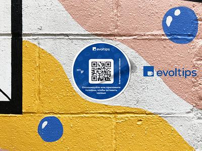 Printed materials for «Evoltips» stiker material print vector typography internet branding design