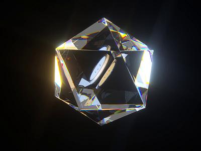 Crystal BTC 3dart 3d animation motiongraphics motion design motion digital bitcoin dispersion octanerender octane render cryptocurrency c4d cryptoart