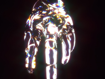 Hand of God cinema4d c4dfordesigners digital abstract hand lights dispersion octane c4dart c4d 3d motion design energy motiongraphics design art abstract art animation art motion art design animation