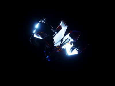 Letter.co Obsidian Crystal reflection dispersion cryptoart nft letter rock obsidian art abstract crystal octane c4d motion graphics 3d animation