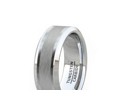 FASHION RING CLASSIC BRUSHED INLAY BEVELED EDGE COMFORT FIT men wedding rings black men wedding band black stainless steel bracelet