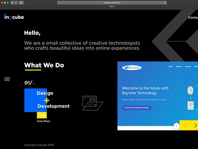 Ingcube Landing Page interaction design type vector web app gif animation website interaction dahnteyy icon typography logo illustration ui ux design