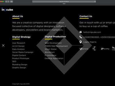 Incube web landing page Expanded type lettering branding icon app interaction design interaction website animation gif web dahnteyy logo typography ux illustration design ui