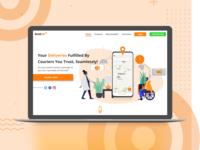 Sendeet Landing page design