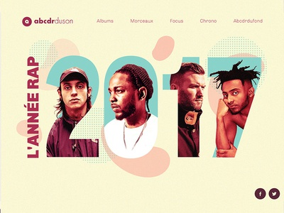 Web design for rap report of the year 2017 music rap ui webdesign