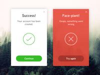 Flash Message (Error/Success)—Daily UI #011
