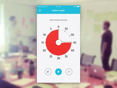 Countdown Timer—Daily UI #014 minimal ui app ios sprint design gv timer countdown daily100 day014 dailyui
