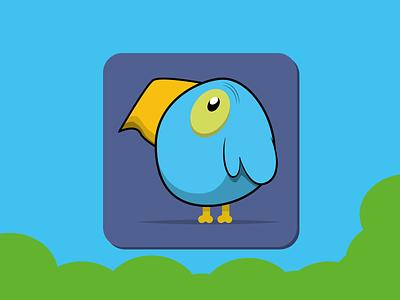 Weekly Warm-Up 4: Little Birdy Icon design bird icon weekly warm-up birdy 2d character illustrator