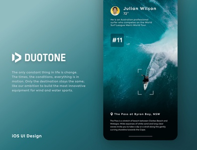 DUOTONE (The Surfers Store) - App Design