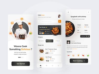 Food Recipe App food recipe mobile uiux app ux ui