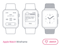 Apple Watch Wireframe for SketchApp [FREEBIE]