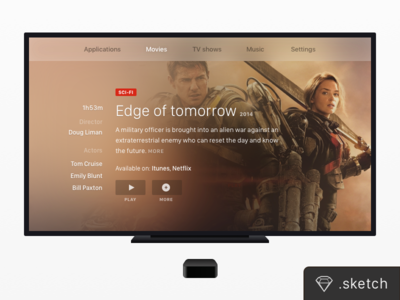TV Screen + Apple TV [FREEBIE]