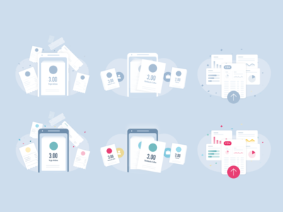 Illustrations invoices mobile app