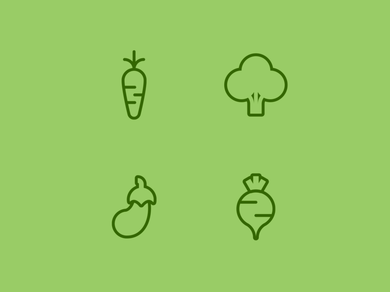vegetables icons design flat icon vector logo illustration