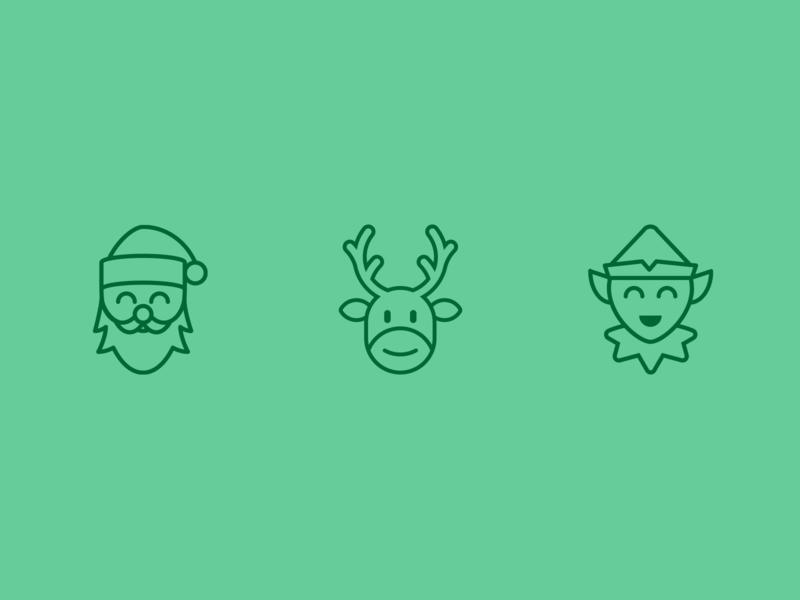 Christmas icons christmas vector logo illustration icon flat design