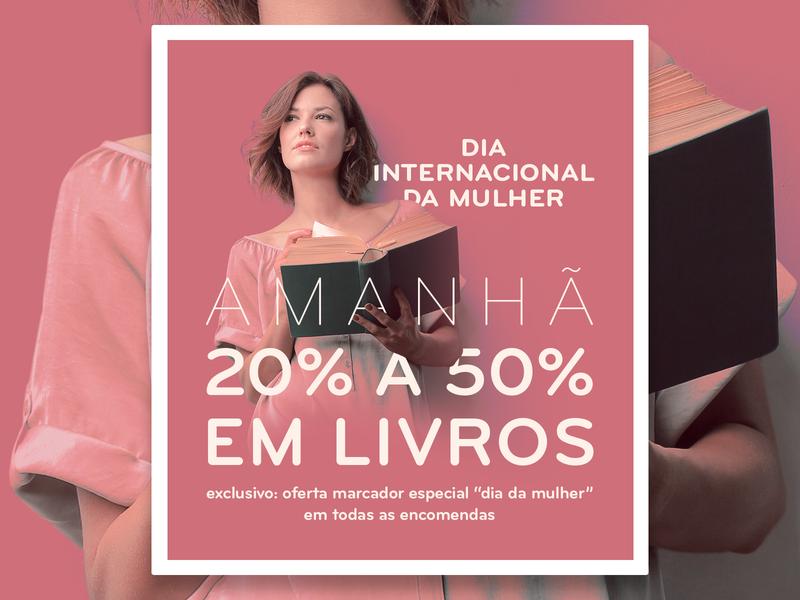 International Women's Day – ecommerce campaign international womens day books bookstore graphic banner poster illustration design ecommerce