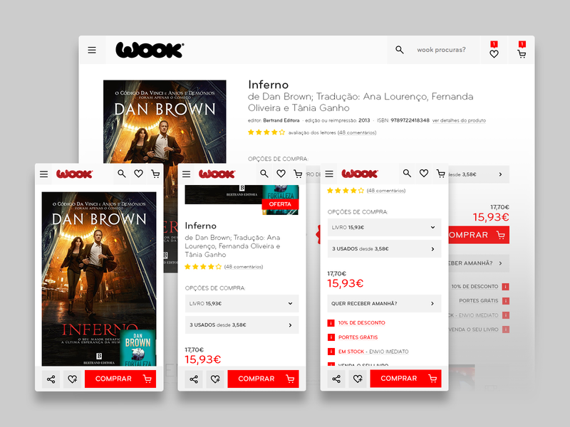 product details page mobile webdesign ux ui books bookstore ecommerce design