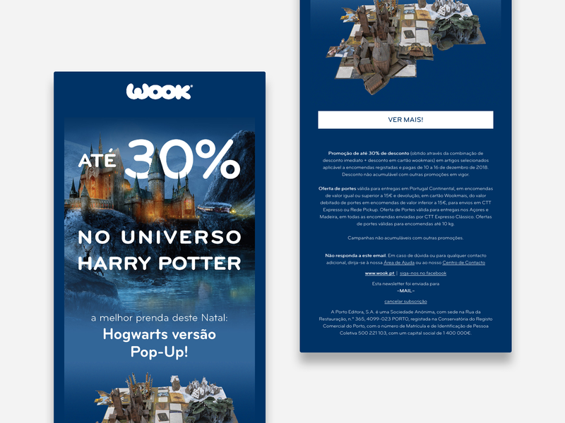 pop-up book - newsletter email digital marketing books bookstore ecommerce design newsletter