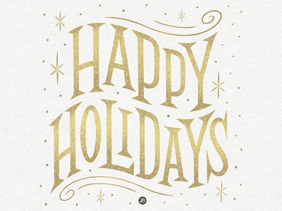 Happy Holidays seasons greetings happyholidays typography lettering hand lettering graphicdesign design