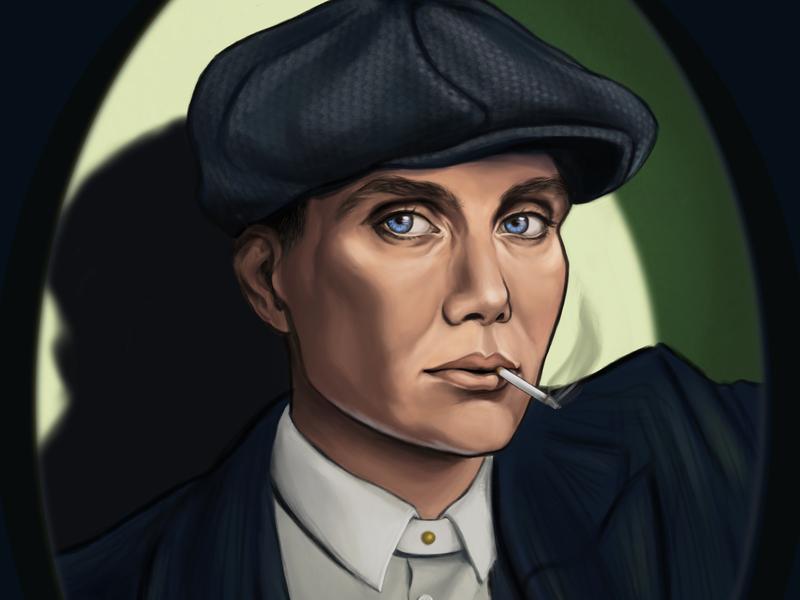 Thomas Shelby drama tv shows shelby peaky blinders face paint portrait art illustration portrait