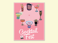 Cocktailfest Poster for Sushi Zushi