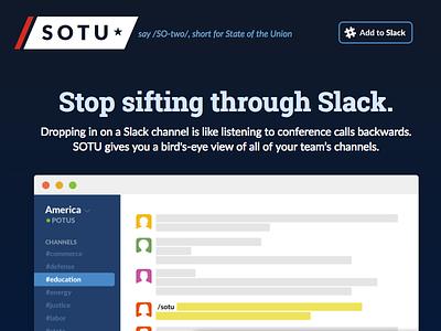 SOTU Landing Page branding slack web design landing page