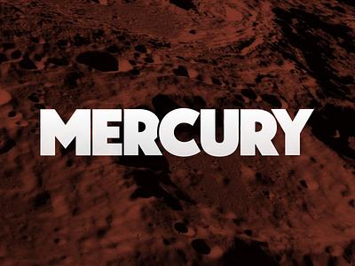 Mercury landing page web design branding