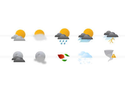 The WX icons weather illustrations