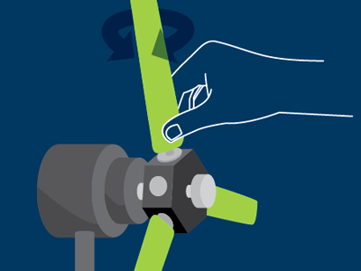 Do the twist instruction amod blue vector illustration diagram