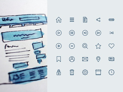 User Interface Icon Set (Line Style)