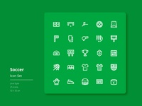 Dribble Soccer Icon Set (Line Style)